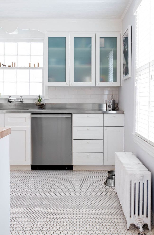 How To Clean Stainless Steel Refrigerator For A Contemporary Kitchen With A Stainless  Steel Countertop And Dana Worlock By Rikki Snyder