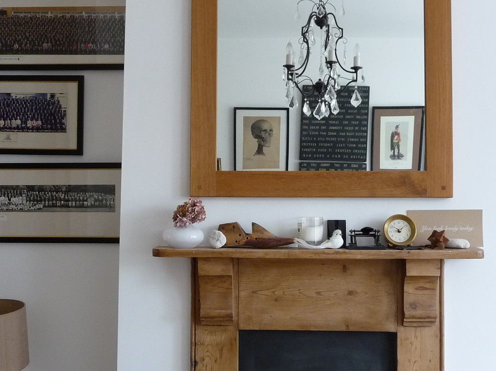 How to Decorate a Mantel for a Rustic Spaces with a Mantel Decorations and Living Room by Sarah & Bendrix