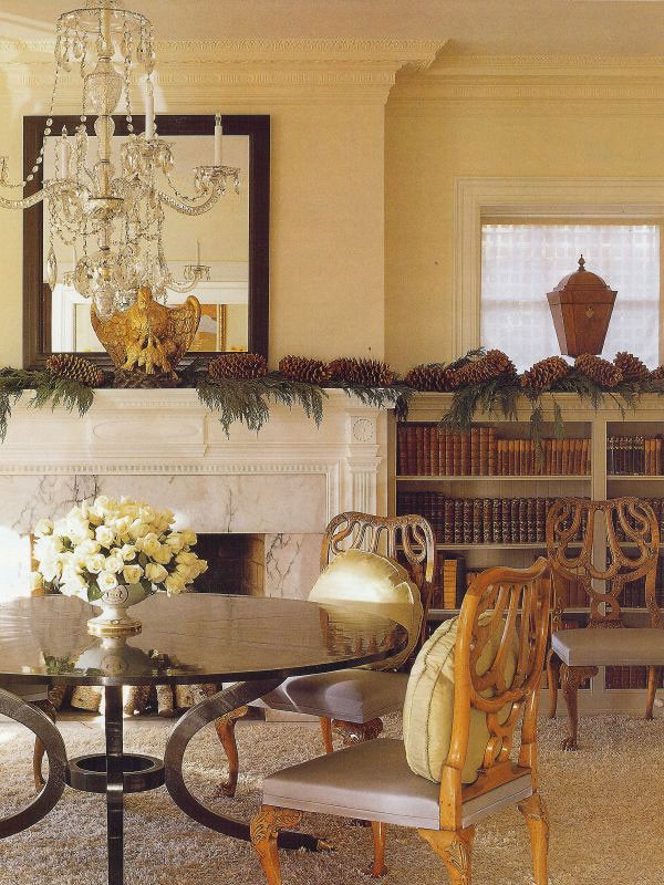 How to Decorate a Mantel for a Traditional Dining Room with a Dc Miami Florida Modern Traditional Tran and Brown Davis Interiors, Inc. by Brown Davis Interiors, Inc.