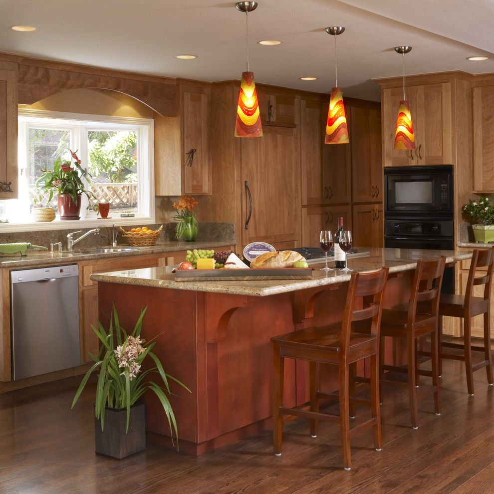 How to Dispose of Light Bulbs for a Contemporary Kitchen with a Cone Shape and Kitchen by Harrell Remodeling