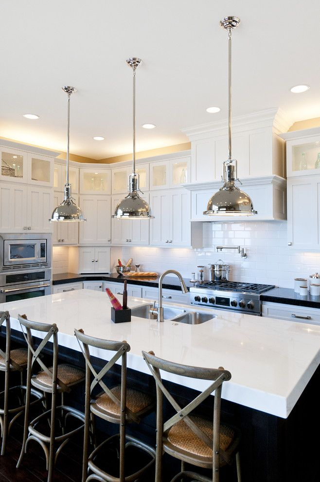 How to Dispose of Light Bulbs for a Traditional Kitchen with a Stainless Steel Appliances and Modified Telluride by Candlelight Homes by Candlelight Homes