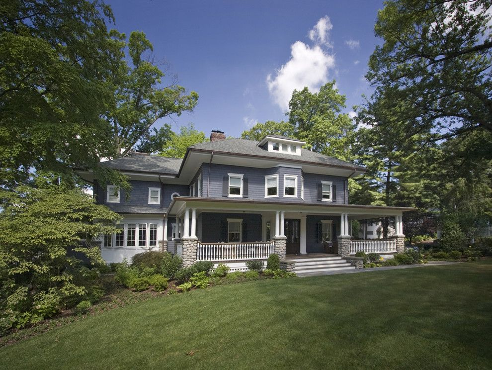 How to Get Rid of Cigarette Smell in House for a Traditional Exterior with a Stone Pillars and Historical Four Square with Large Front Porch by Clawson Architects, Llc