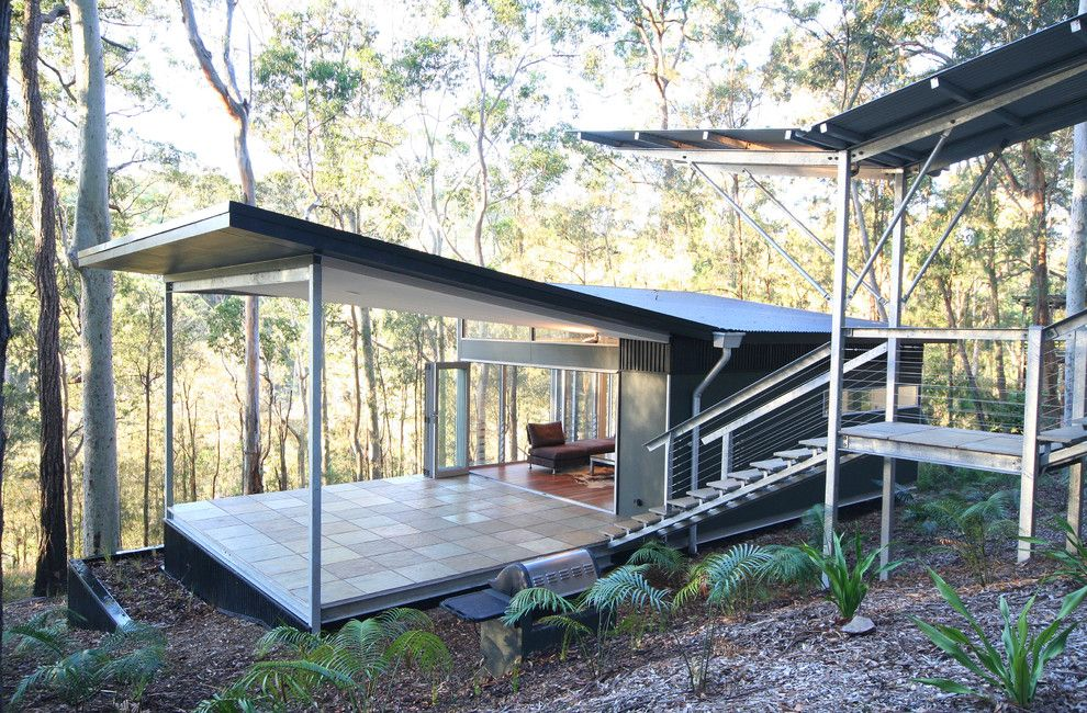 How to Get Rid of Fruit Flies in House for a Contemporary Exterior with a Terrace and Smiths Lake House by Sandberg Schoffel Architects