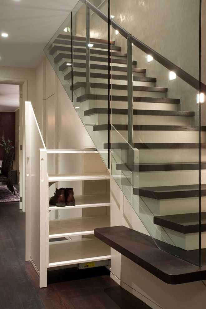 How to Get Rid of Fruit Flies in House for a Contemporary Staircase with a Shoe Cabinet and House in West London by Studio Mark Ruthven