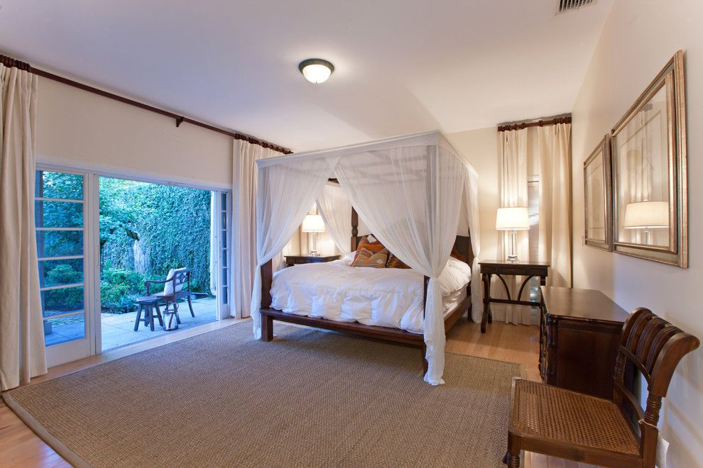 How to Get Rid of Mosquitos for a Tropical Bedroom with a Bed Canopy and Exotic Teak Bedroom by Tlordi