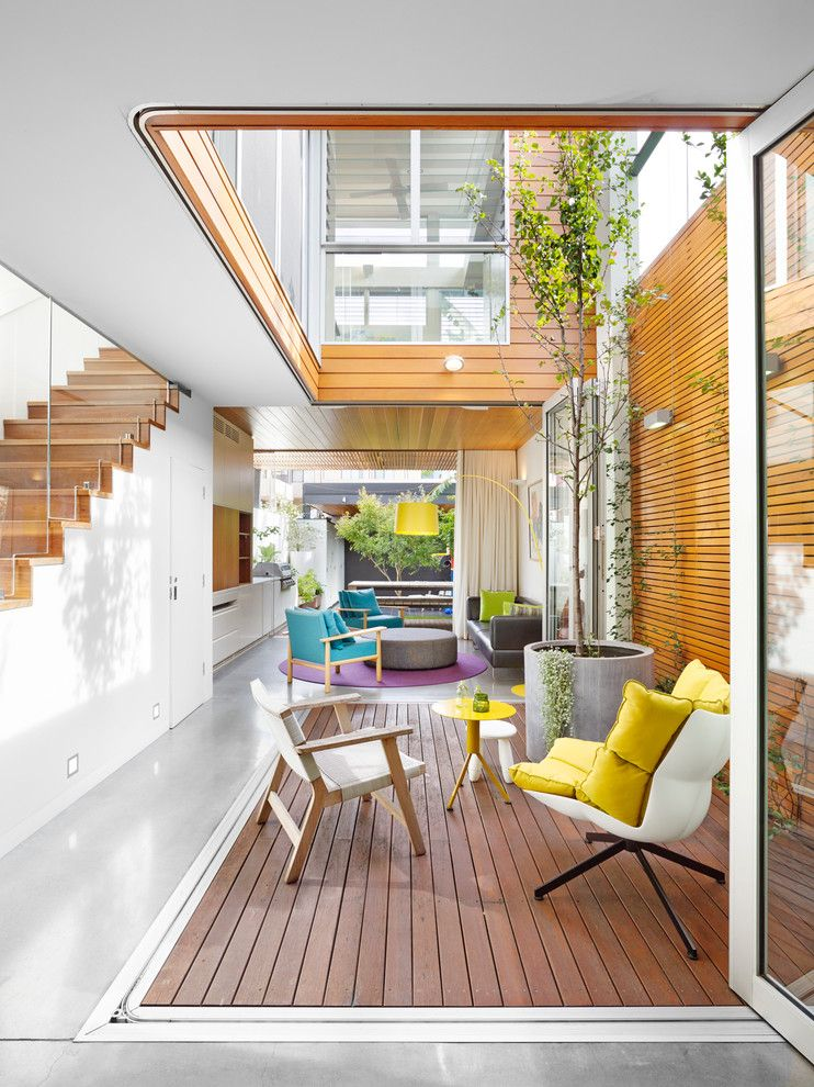How to Get Rid of Smoke Smell in House for a Contemporary Deck with a Timber Deck and the Open House by Elaine Richardson Architect