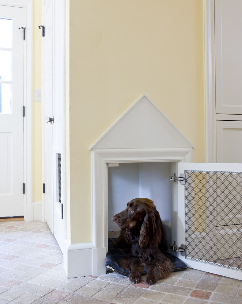 How to Get Rid of Smoke Smell in House for a Traditional Entry with a Brick Floors and Tudor Addition Mudroom Dog House by Lda Architecture & Interiors
