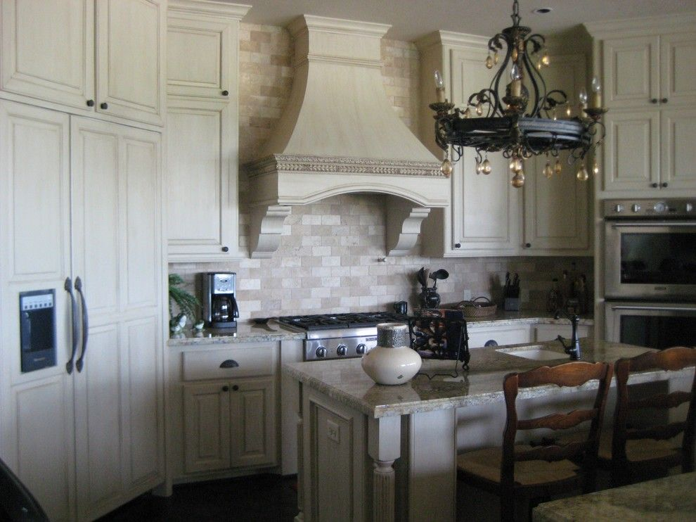 How to Glaze Cabinets for a Mediterranean Kitchen with a Antique Glazed Cabinets and Glazed Cabinets by Imondi Interiors
