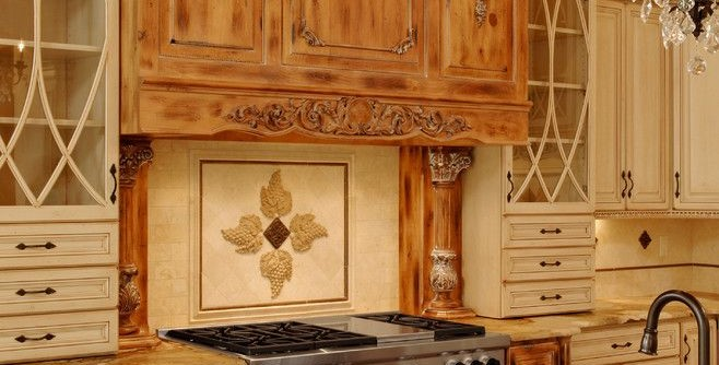 How to Install Backsplash for a Traditional Kitchen with a Crown Molding and Kitchen Remodel #4 - Rockville MD by Ferguson Bath, Kitchen & Lighting Gallery