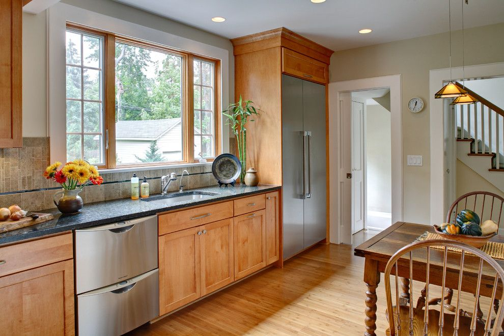 How to Install Backsplash for a Traditional Kitchen with a Kitchen Floor and Tracey Stephens Interior Design Inc by Tracey Stephens Interior Design Inc