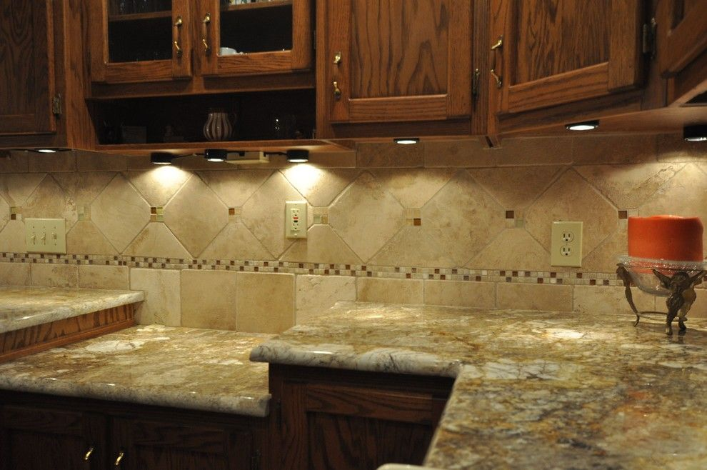 How to Install Granite Countertops for a Eclectic Kitchen with a Eclectic and Granite Countertops and Tile Backsplash Ideas by Supreme Surface, Inc.