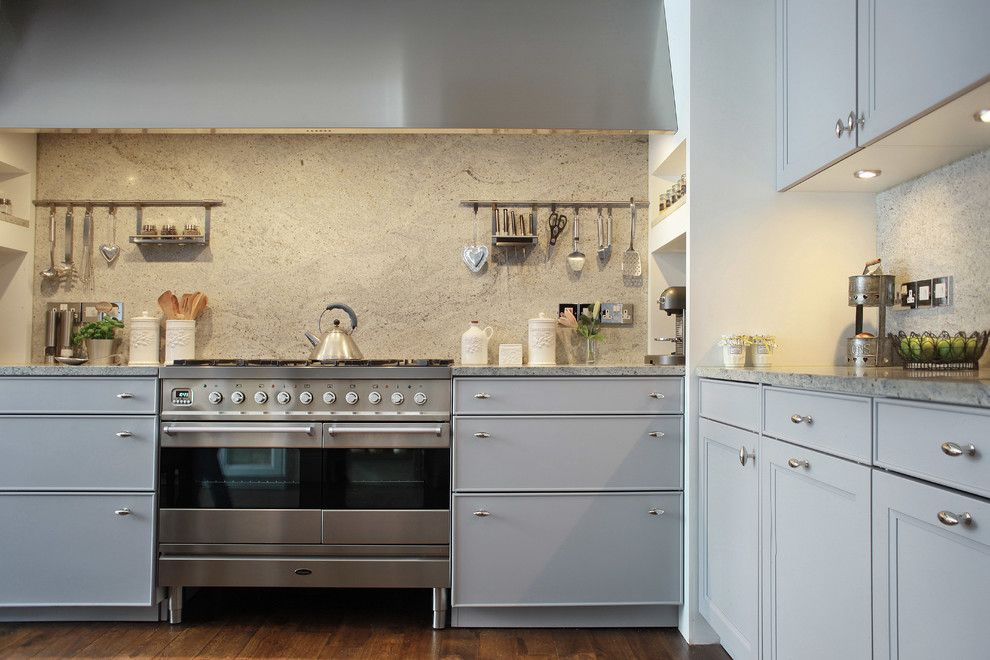 How to Install Granite Countertops for a Transitional Kitchen with a Teakettle and Matrix Kitchen Hampstead by Alex Maguire Photography