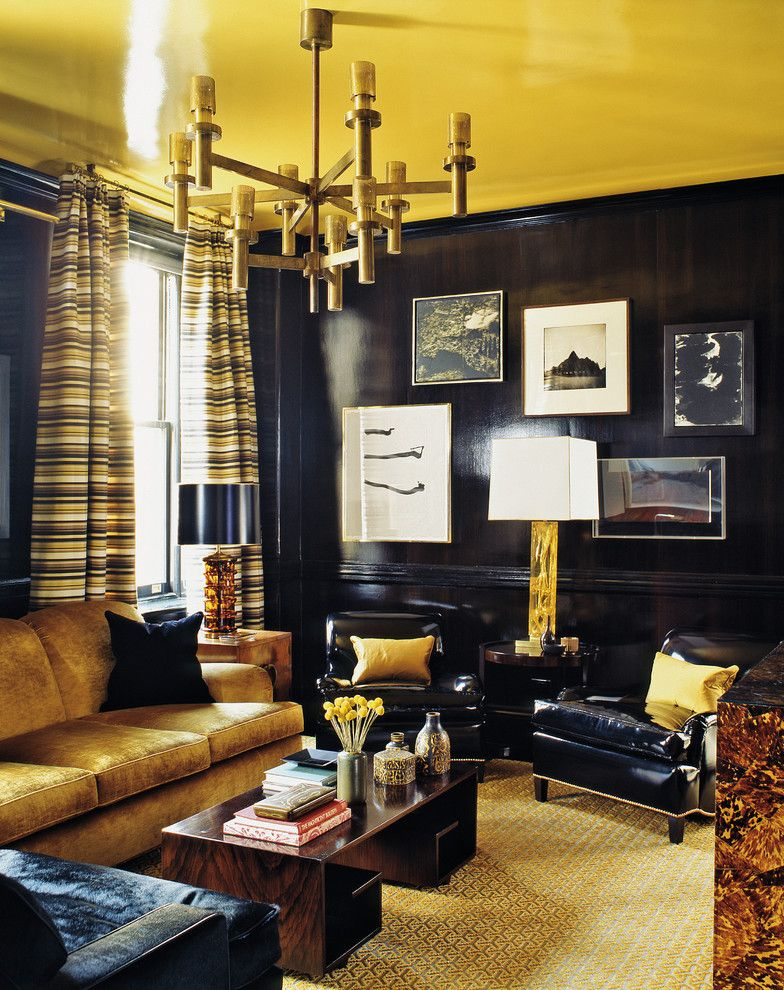 How to Patch Drywall for a Contemporary Living Room with a Yellow Ceiling and Steven Gambrel Time and Place by Abrams