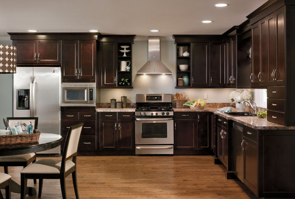 How to Repaint Kitchen Cabinets for a Modern Kitchen with a Kitchen Table and Modern Brown Kitchen by Chris and Dick's