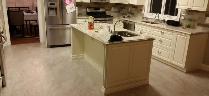 How to Seal Grout for a Contemporary Kitchen with a Porcelain Tile and Lakewood NJ Grout Cleaning & Sealing by Grout Works of Central NJ