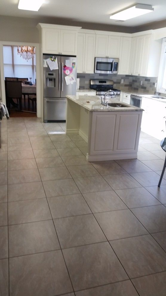 How to Seal Grout for a Contemporary Spaces with a Porcelain Tile and Lakewood NJ Grout Cleaning & Sealing by Grout Works of Central NJ