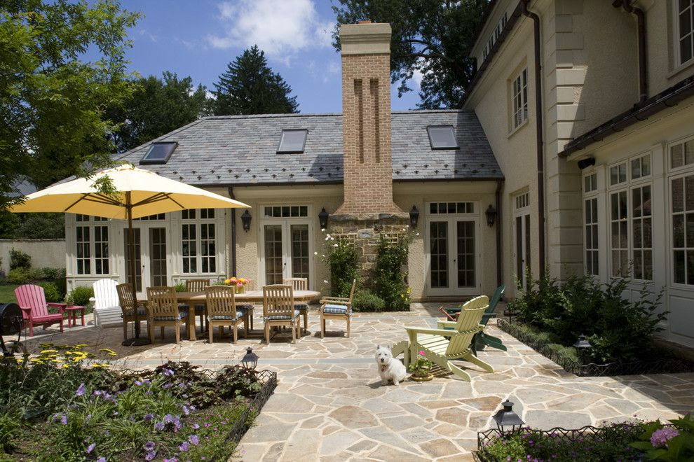 How to Seal Grout for a Traditional Patio with a Stucco and Multiple Family Suites by Penza Bailey Architects