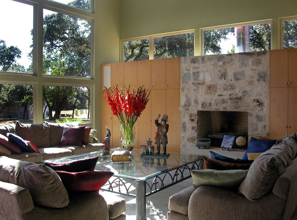 Humara for a Modern Living Room with a Warm Colors and Modern Hacienda by Ignacio Salas Humara Architect Llc