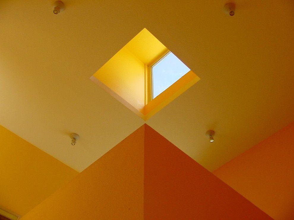 Humara for a Modern Staircase with a Flagstone Floors and Modern Hacienda by Ignacio Salas-Humara Architect LLC