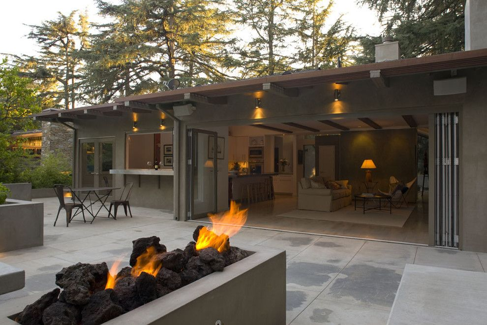 Hurricane Proof House for a Contemporary Exterior with a Patio Furniture and La Canada Residence by Think. Design Office