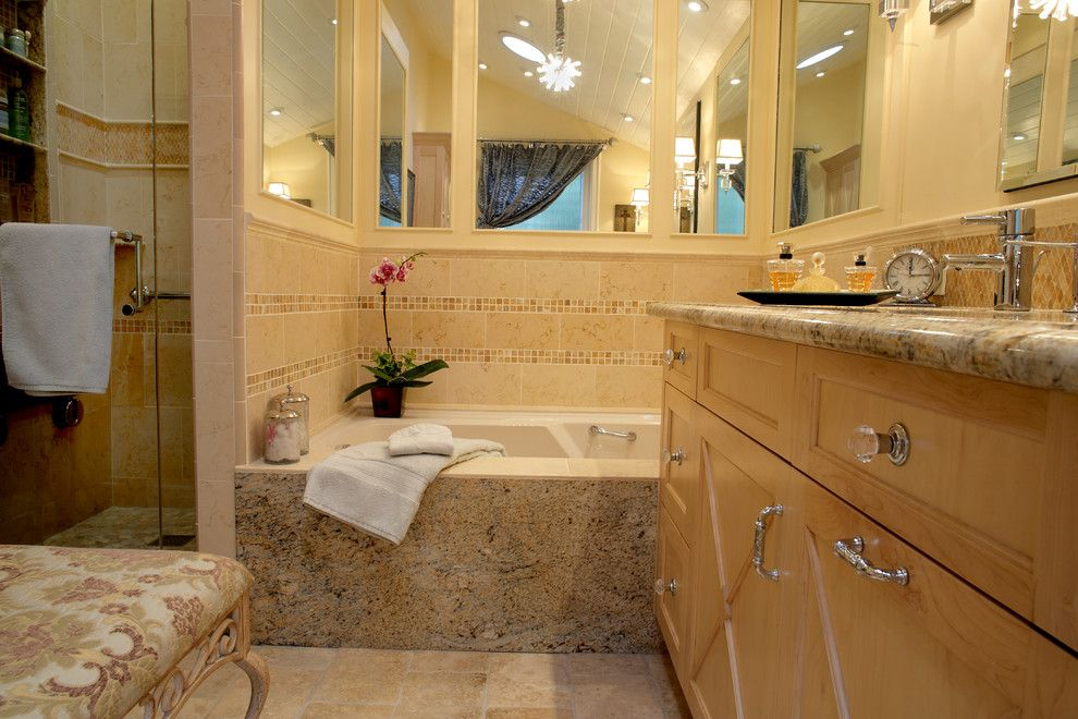 Hydrosystems for a Contemporary Bathroom with a Crystal and California Ranch Remodel by Marlene Oliphant Designs Llc