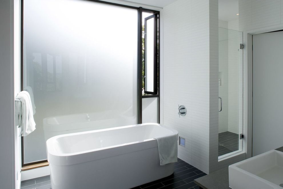 Hydrosystems for a Modern Bathroom with a Black and East of Market by Lane Williams Architects