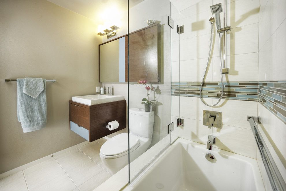 Hydrosystems for a Modern Bathroom with a Wenge and Hall Bath by Mak Design + Build Inc.