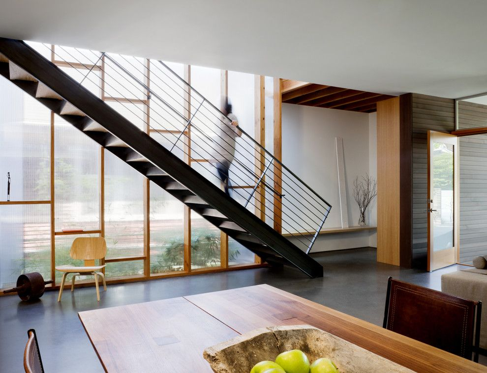 Icon at Dulles for a Contemporary Staircase with a Front Door and Push Pull Residence by Mw|Works Architecture+Design