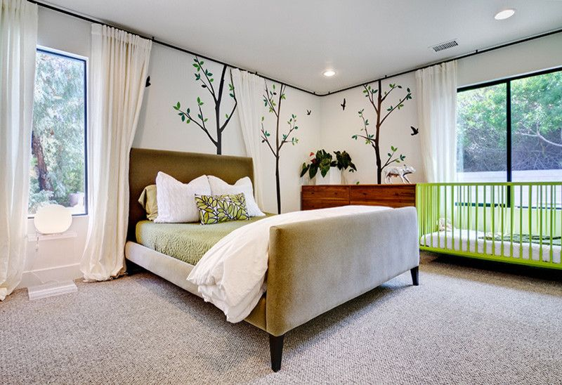 Ikea Bedroom Ideas for a Contemporary Bedroom with a Contemporary and Rancho Santa Fe House by Shaw Coates