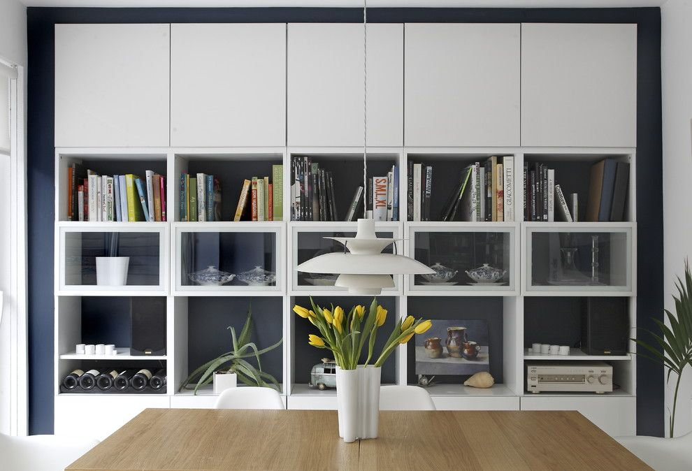 Ikea Besta Cabinet for a Contemporary Dining Room with a Storage and Kitchen/dining Room Storage by Optimise Design