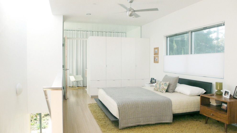Ikea Besta for a Modern Bedroom with a Modern Armoire and P House by Ras A, Inc.