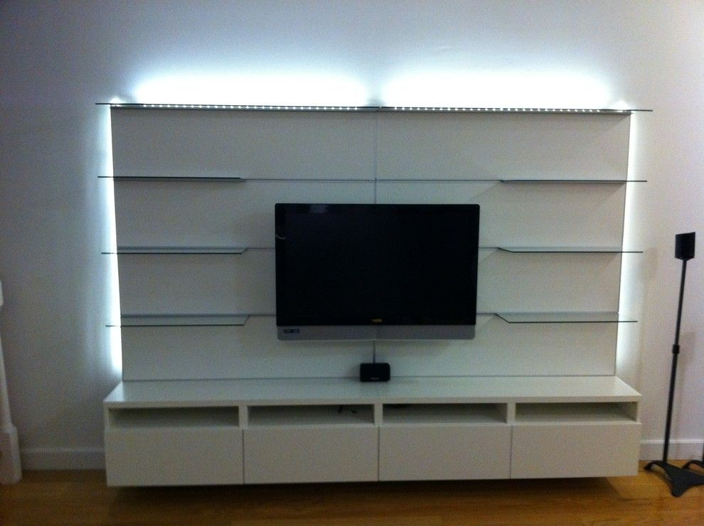 Ikea Besta for a  Spaces with a  and IKEA Besta and Besta / Framsta TV Entertainment Installations by Furniture Assembly Service & More, LLC
