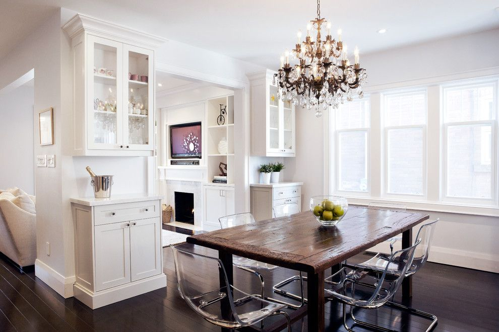 Ikea Bjursta Table for a Rustic Dining Room with a Contemporary and Melrose by Ali Budd Interiors