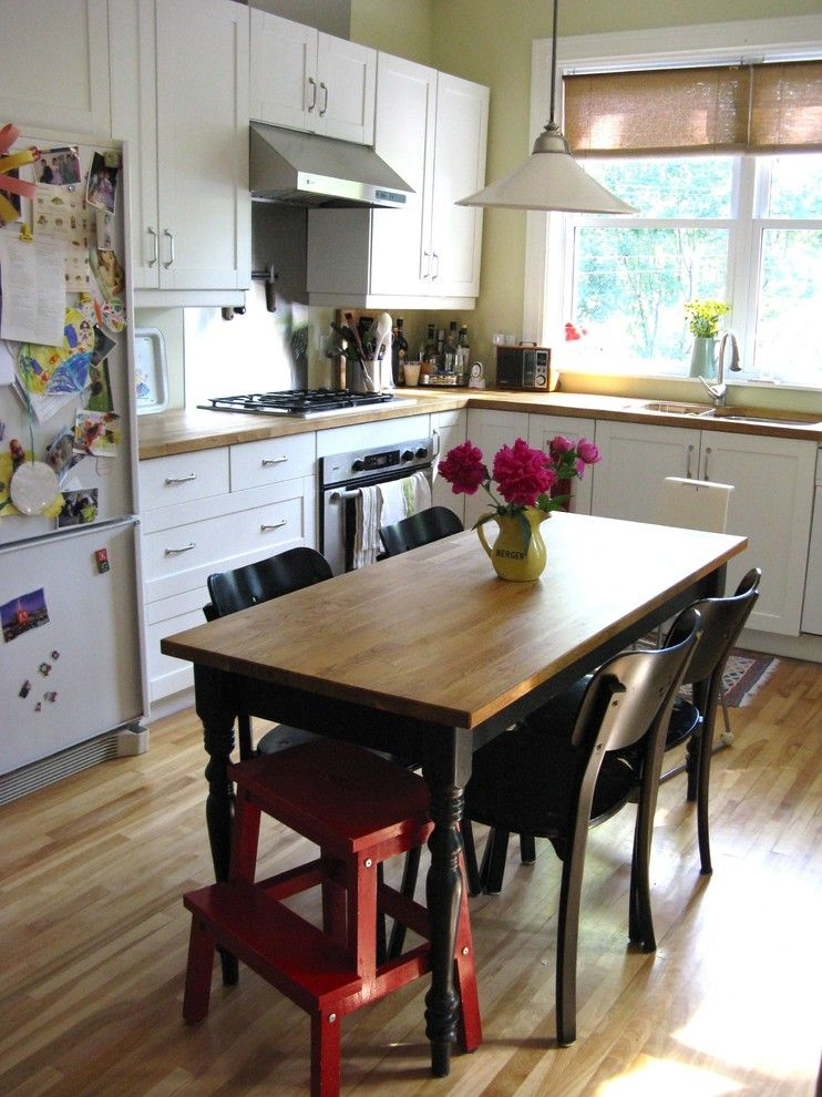 Ikea Changing Table for a Eclectic Kitchen with a Pendant Lamp and Our Family Kitchen by Pour Toujours