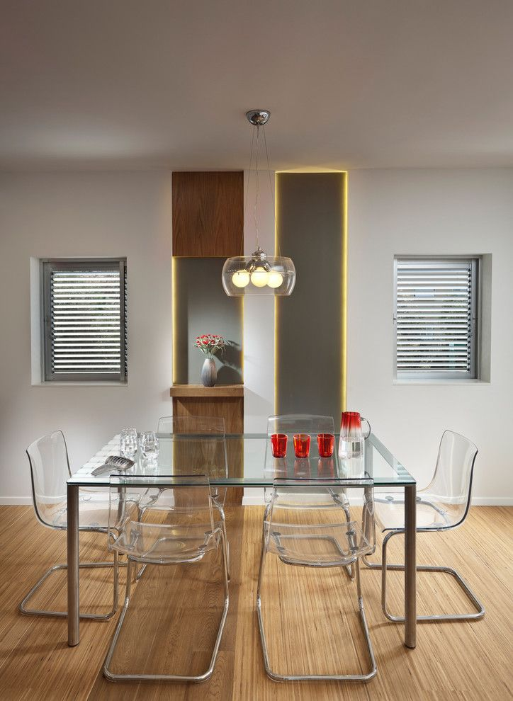 Ikea Changing Table for a Modern Dining Room with a Open Shelving and Dining Room by Elad Gonen
