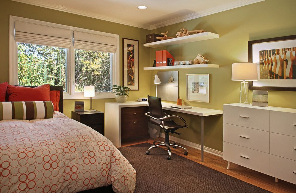 Ikea College Park for a Contemporary Bedroom with a Geometric Print and Villa Park  Home by Cathy Morehead