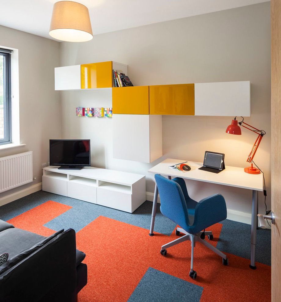 Ikea College Park for a Contemporary Home Office with a Ikea Furniture and Park Edge Showhouse by Think Contemporary