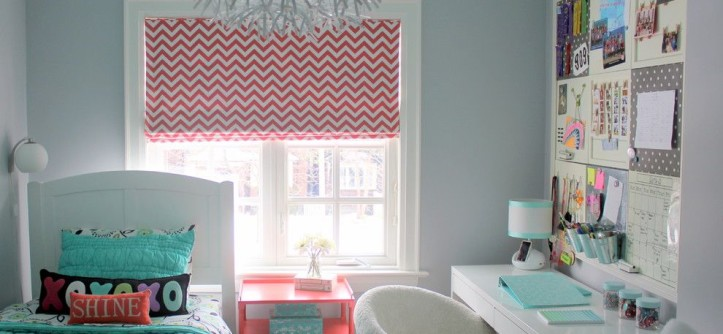 Ikea Desk Hack for a Transitional Kids with a Nightstand and Pretty Tween Bedroom by Sarah Gunn, Interior Stylist
