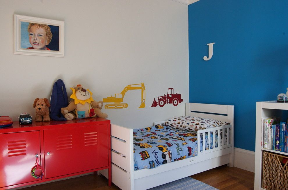 Ikea Hemnes Bed for a Contemporary Kids with a Wood Trim and Four Walls and a Roof by Lucy Mclintic