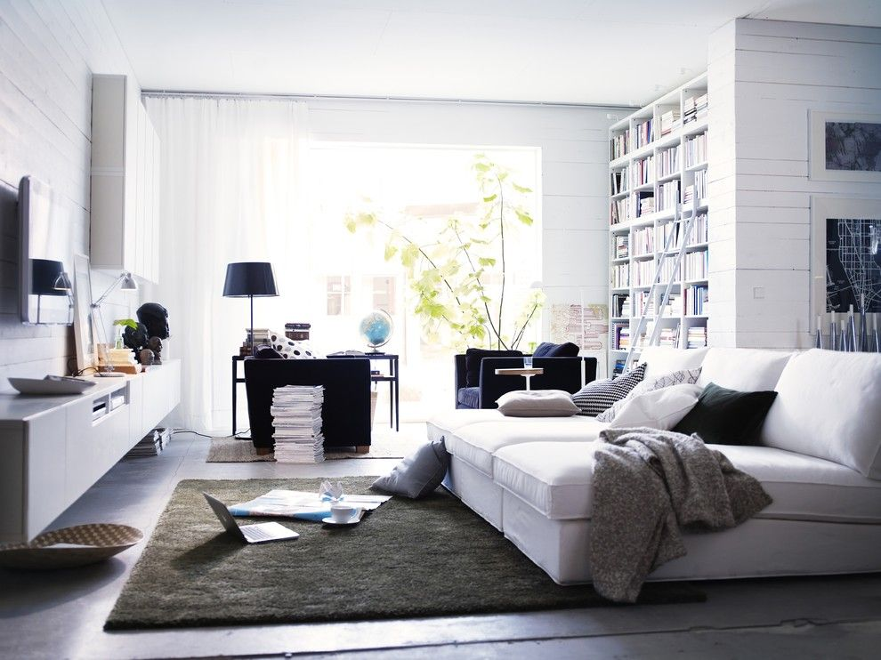 Ikea Karlstad for a Contemporary Living Room with a Contemporary and Ikea Living Room by Ikea
