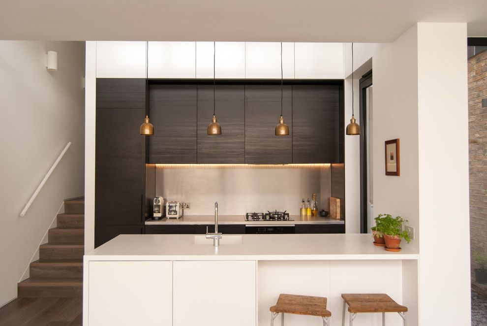 Ikea Kitchen Planner for a Contemporary Kitchen with a Splashback Ideas and House Extension North London by Flik Design Ltd