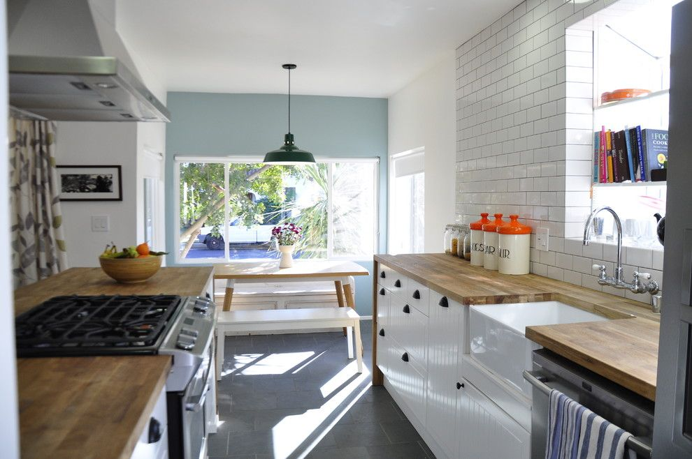 Ikea Kitchen Planner for a Contemporary Kitchen with a White Cabinets and Kitchen by Tess Bethune Interiors