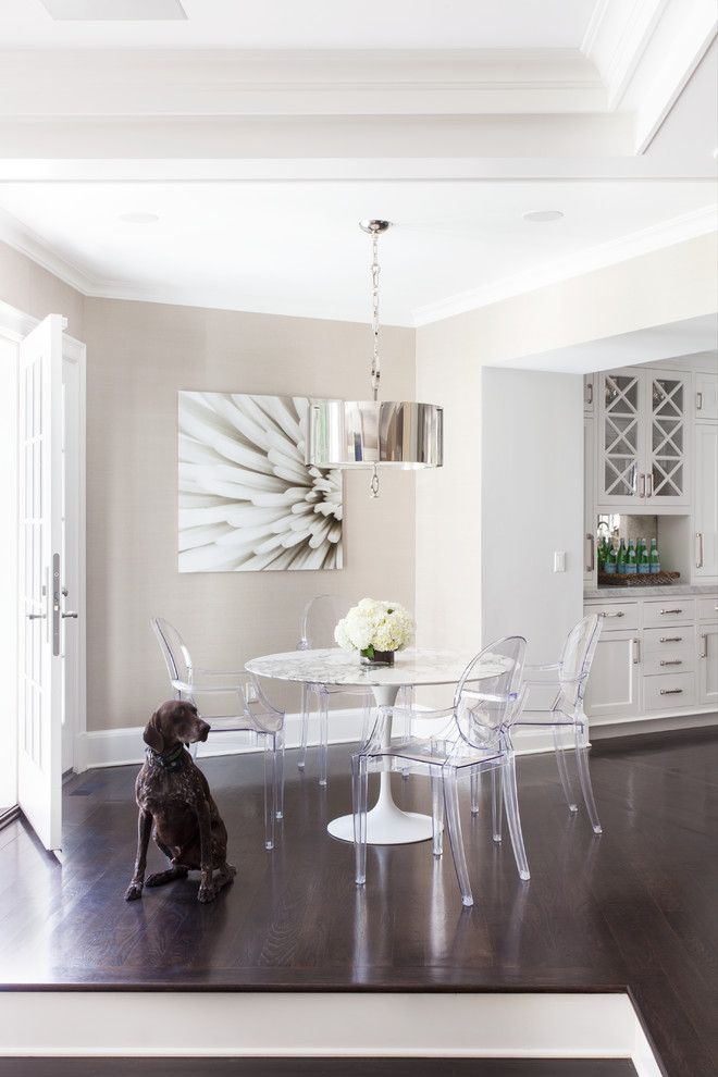 Ikea Kitchen Planner for a Transitional Dining Room with a Dark Wood Flooring and Greenwich Residence   Magazine Spread by Tiffany Eastman Interiors, Llc