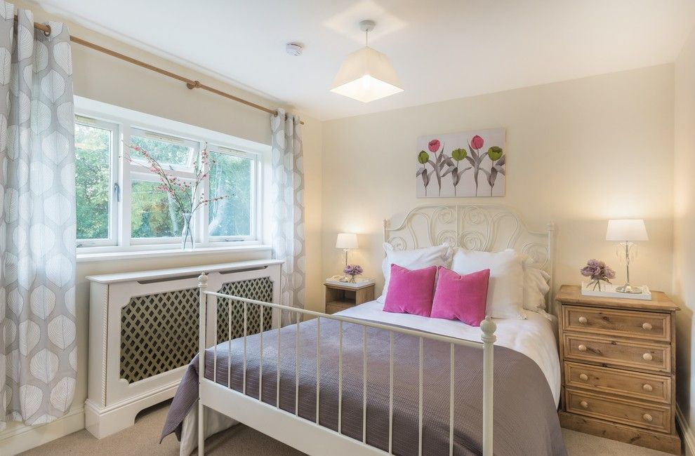 Ikea Leirvik for a Farmhouse Bedroom with a Night Stand and Staged Bedroom in Lyndhurst, Hampshire by Coral Interiors