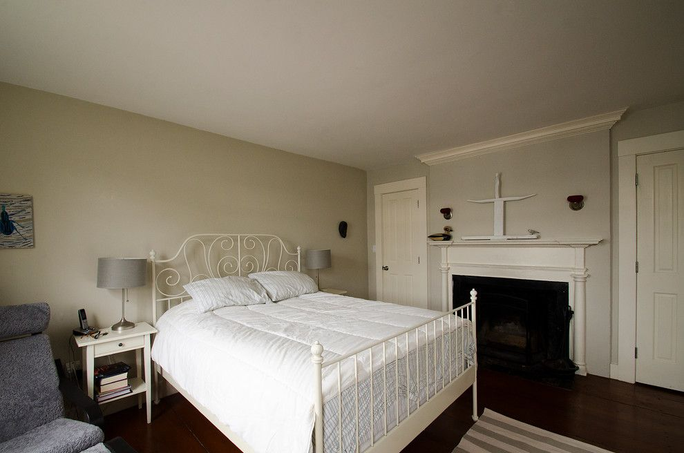 Ikea Leirvik for a Victorian Bedroom with a Salem and Historic Marblehead House by Walter Jacob Architects