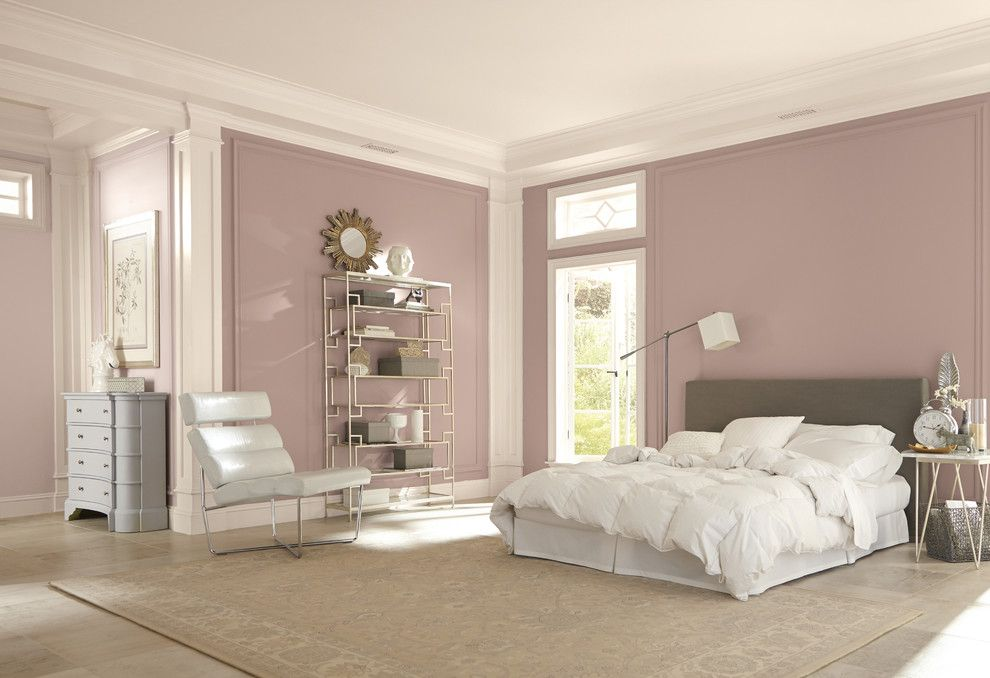 Ikea Malm Bed for a Contemporary Bedroom with a Contemporary and Sherwin-Williams by Sherwin-Williams