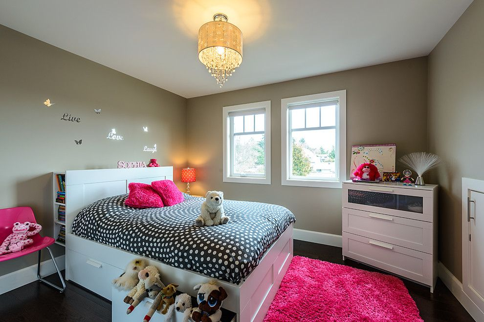 Ikea Malm Bed for a Contemporary Kids with a Dresser and Parador by Joshua Lawrence Studios Inc