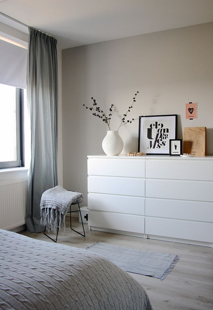 Ikea Malm for a Scandinavian Bedroom with a Bedroom Decor and the Home of Karlijn and Pieter by Holly Marder