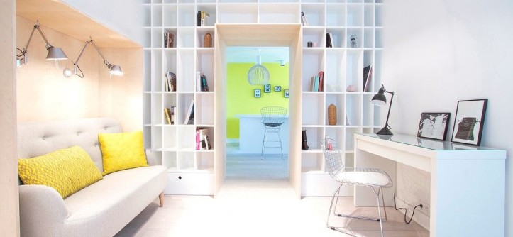 Ikea Malm for a Scandinavian Home Office with a Wire Side Chair and Chanoinesse by Céline Lempereur