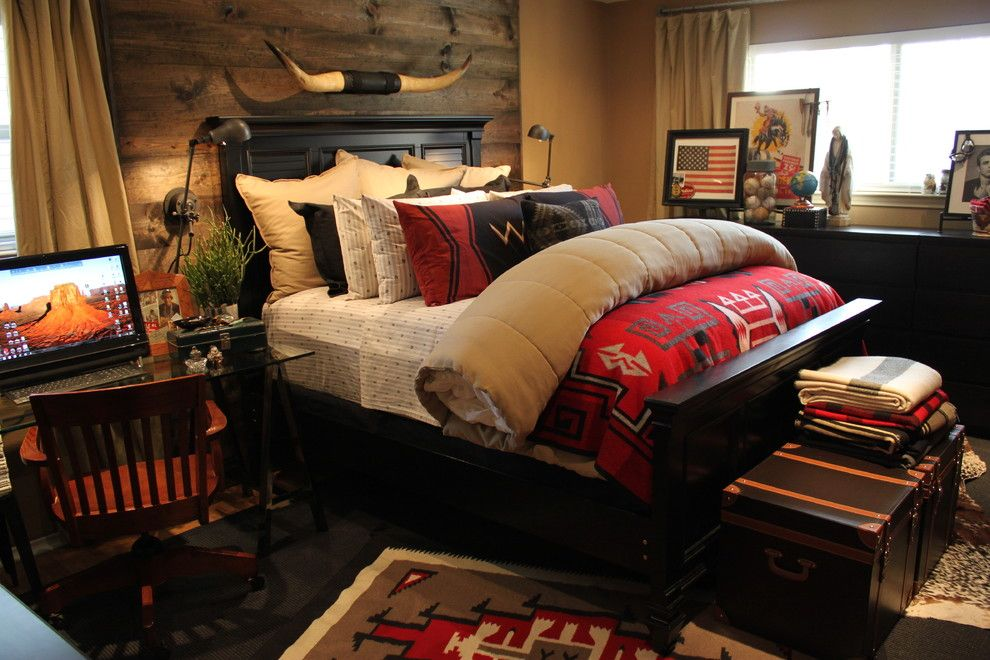 Ikea Malm for a Southwestern Bedroom with a Rustic and Master Bedroom by the Cavender Diary